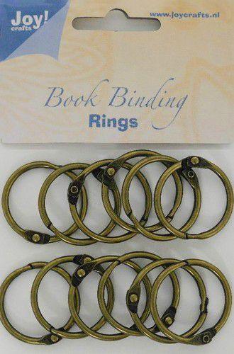 Joy! Crafts - Boekbinders-ringen antiek koper 30mm 12st 6200/0132