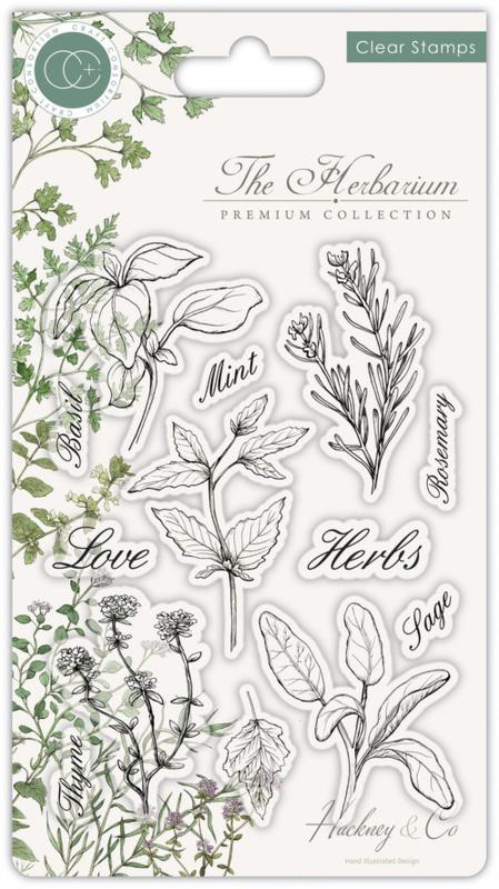 Craft Consortium -  The Herbarium - Clear Stamps - Herbs