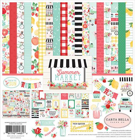 Carta Bella - Summer Market - 12x12 Inch Collection Kit (30,5 x 30,5 cm)