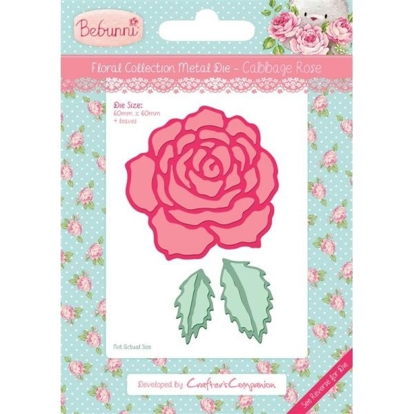 Bebunni Floral Metal Die - Cabbage Rose by Crafter's Companion