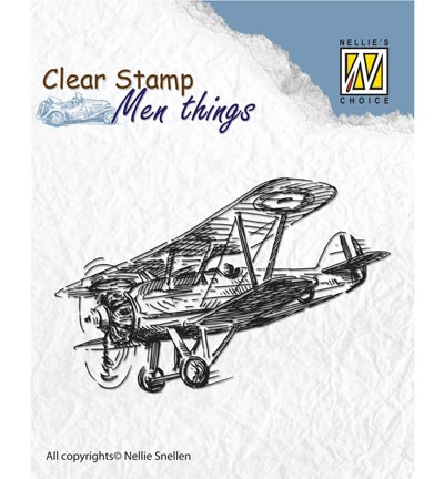 Nellie`s Choice - Clear Stamps - Men Things - Aeroplane