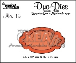 Crealies - Duo Die no. 15 Duo Labels 2