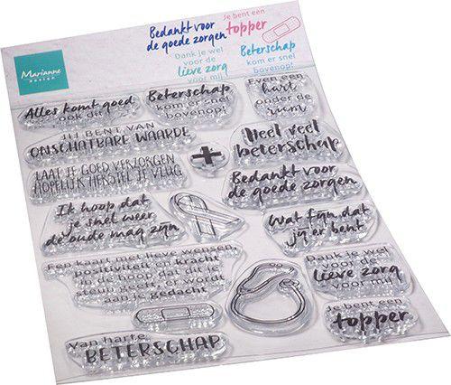 Marianne Design - Clear Stamps - Zorg & herstel (NL) CS1080 110x150mm