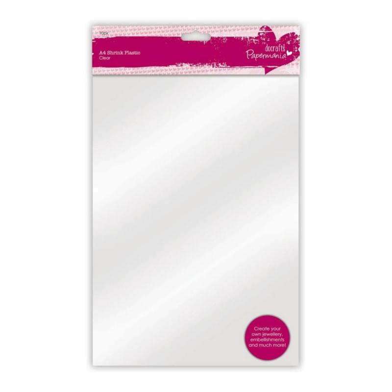 Papermania A4 Shrink Plastic (10pk) - Clear (PMA 169206)