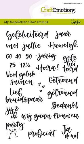 CraftEmotions - clearstamps A6 - handletter - huwelijk (NL) Carla Kamphuis