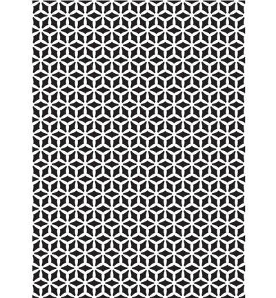 Nellies Choice Plastic Mixed media stencil A5 - Pattern-3 - NMMS017