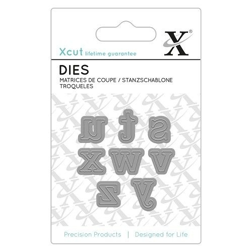 Xcut - Mini Dies (8pcs) - Serif Alpha 3