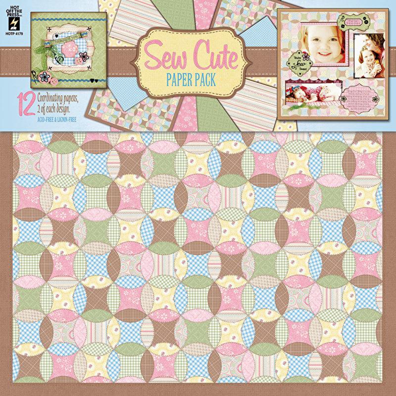 Hot Off The Press - Sew Cute Pack 30,5 x 30,5 cm