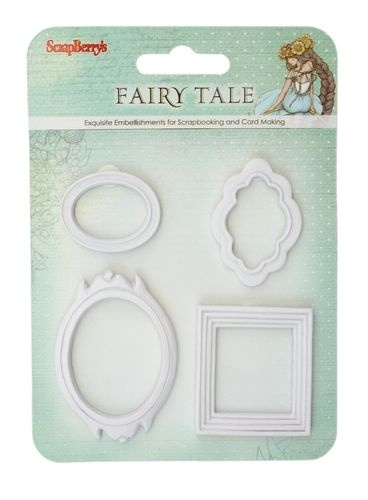 ScrapBerry's - Set polymer items Fairy Tale. Set of frames. 4 stuks