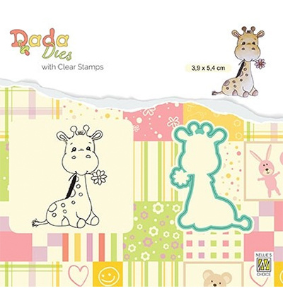 Nellie's Choice - Dada dies and clearstamps - Cute Giraffe