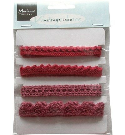 Marianne Design - Vintage Lace Christmas red