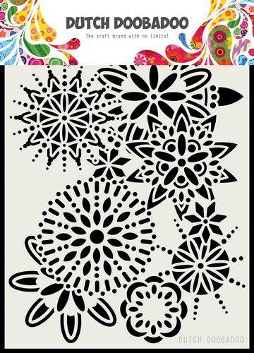 Dutch Doobadoo- Dutch Mask Art - Mandala - A5
