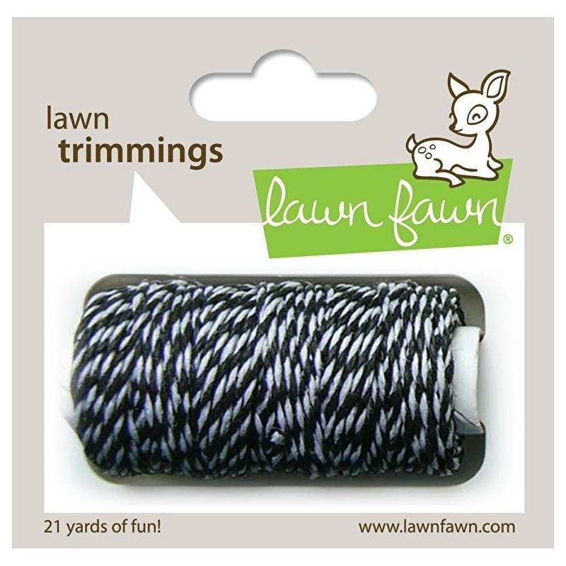 Lawn Fawn - Trimmings Hemp Cord Black Tie - 21yd
