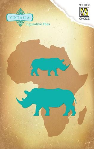 Nellie`s Choice Vintasia Die - Big Five Rhinoceros VIND031