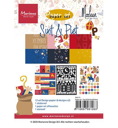 Marianne Design -  Paper set - Sint & Pint PK9173