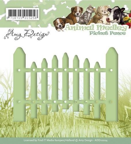 Amy Design -Die -  Animal Medley - Picket Fence