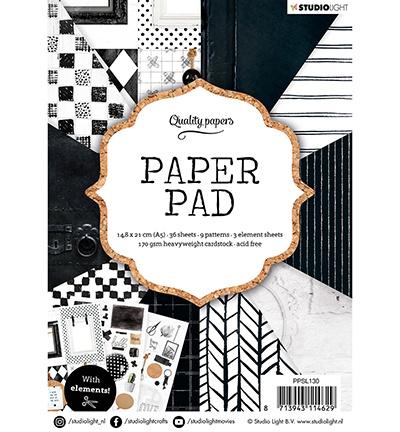 Studio Light -  Paper Pad A5 - Black/White nr.130