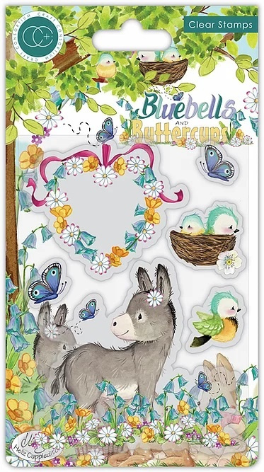 Craft Consortium -Bluebells and Buttercups  - Donkey Clear Stamps (CCSTMP058)