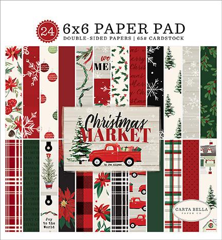 Carta Bella -  Christmas Market- 6x6 Inch Paper Pad (15,2 x 15,2 cm)