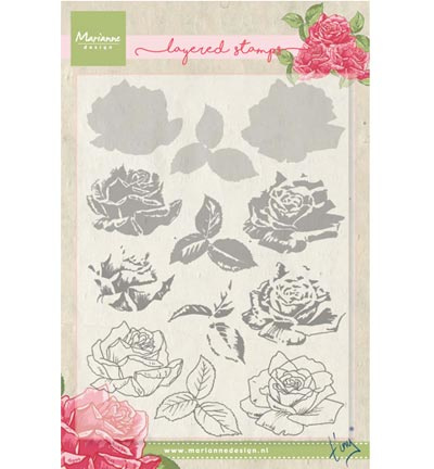 Marianne Design - Clearstamps - Tiny's rose (layering)