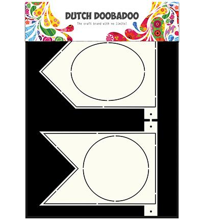 Dutch Doobadoo Dutch Card Art Stencil - Banner Flags -A4