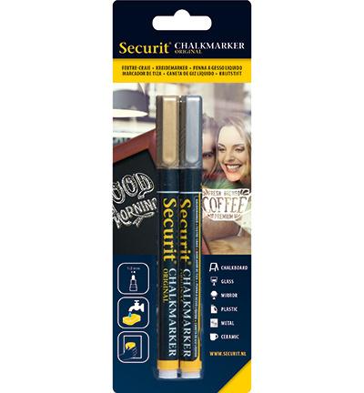 Securit - Chalkmarkers Gold en Silver set