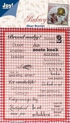 Joy!crafts - clearstamps Bakery teksten NL