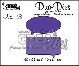Crealies - Duo Die no. 18 Spreekwolkjes