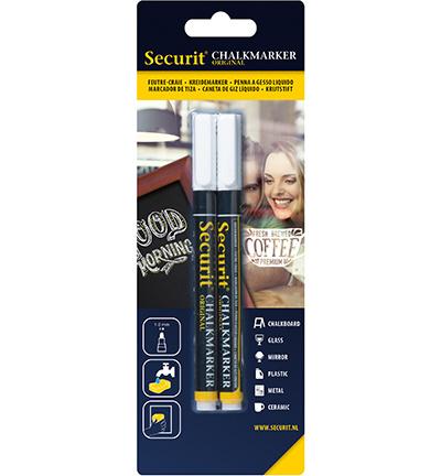 Securit - Chalkmarkers White set