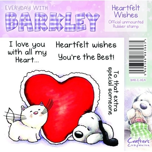 Barkley Everyday Stamp - Heartfelt Wishes by Crafter`s Companion