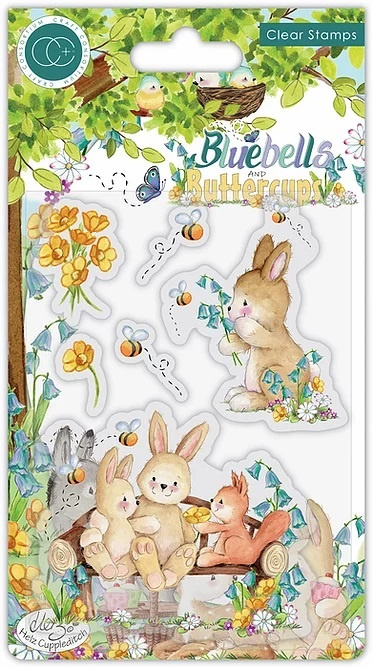 Craft Consortium - Bluebells and Buttercups - Bench  - Clear Stamps (CCSTMP059)