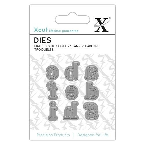 Xcut - Mini Dies (9pcs) - Serif Alpha 1