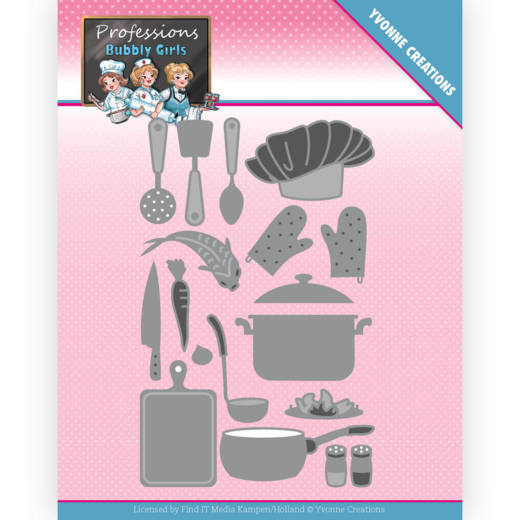 Yvonne Creations - Dies -  Bubbly Girls - Professions - Kitchen Staff