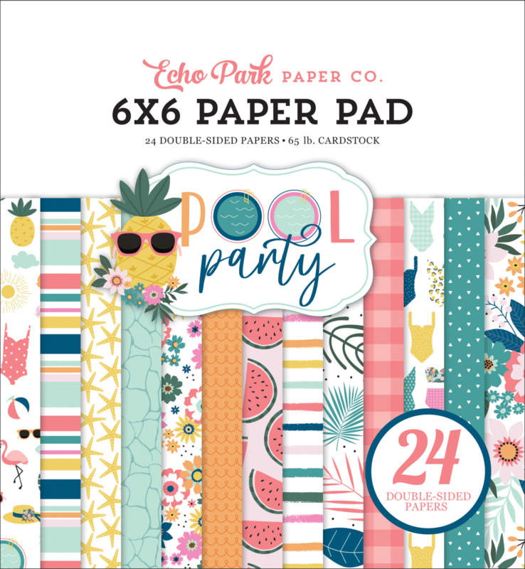 Echo Park  - Pool Party - 6x6 Inch Paper Pad (POP240023) 15,2 x 15,2 cm