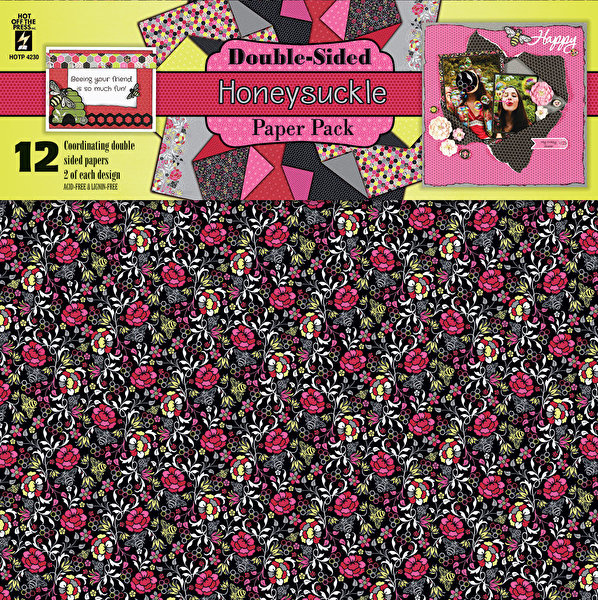 Hot off the Press - Honeysuckle Double-Sided Scrapbooking Papers -30,5 x 30,5 cm
