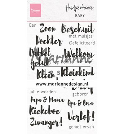 Marianne Design - Clear stamps handgeschreven - Baby
