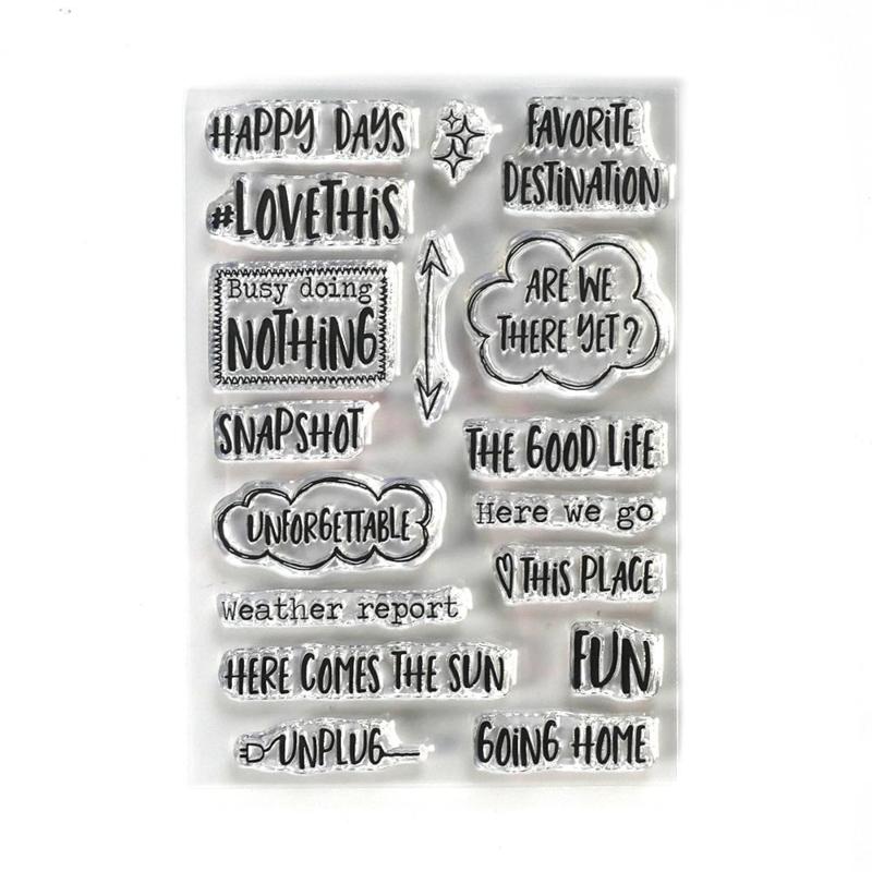 Elizabeth Craft Designs - Destination Phrases - clearstamps
