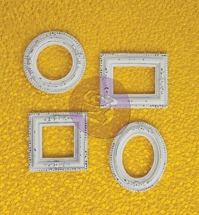Prima Marketing - Resin Antique White Frames 4 stuks