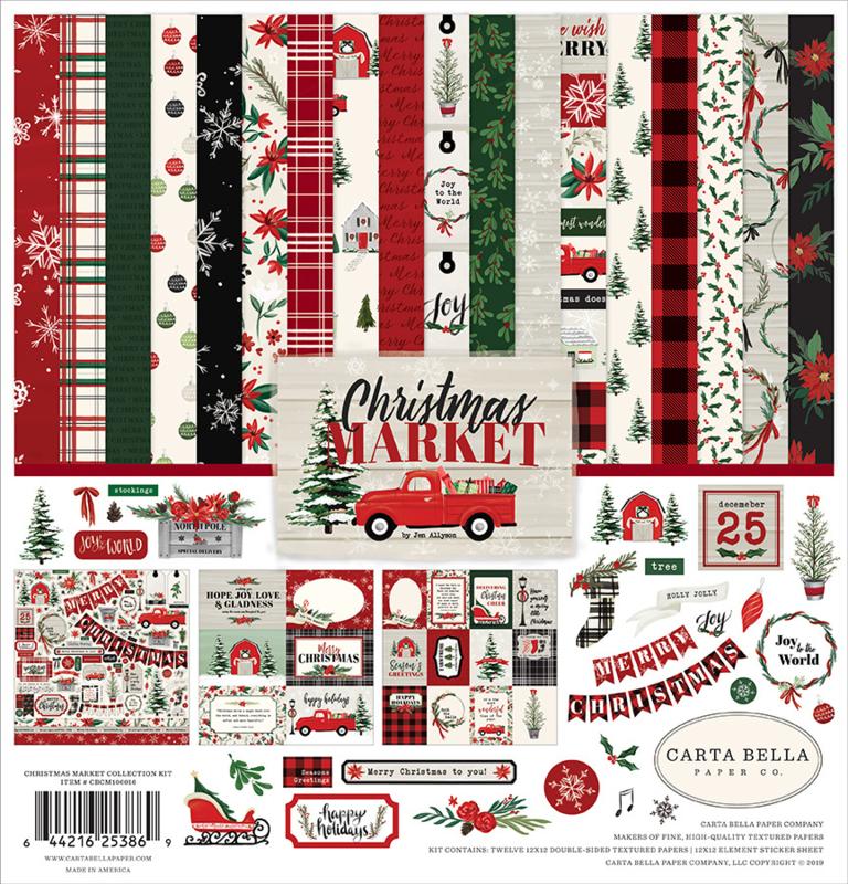Carta Bella - Christmas Market -  12x12 Inch Collection Kit