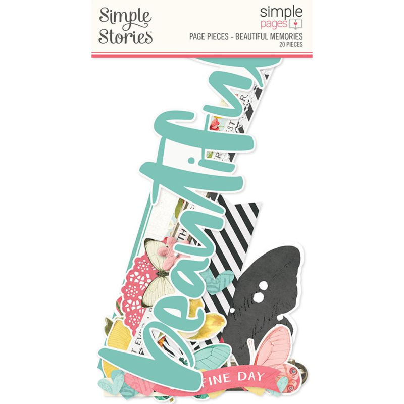 Simple Stories - Simple Pages Page Pieces - Beautiful Memories