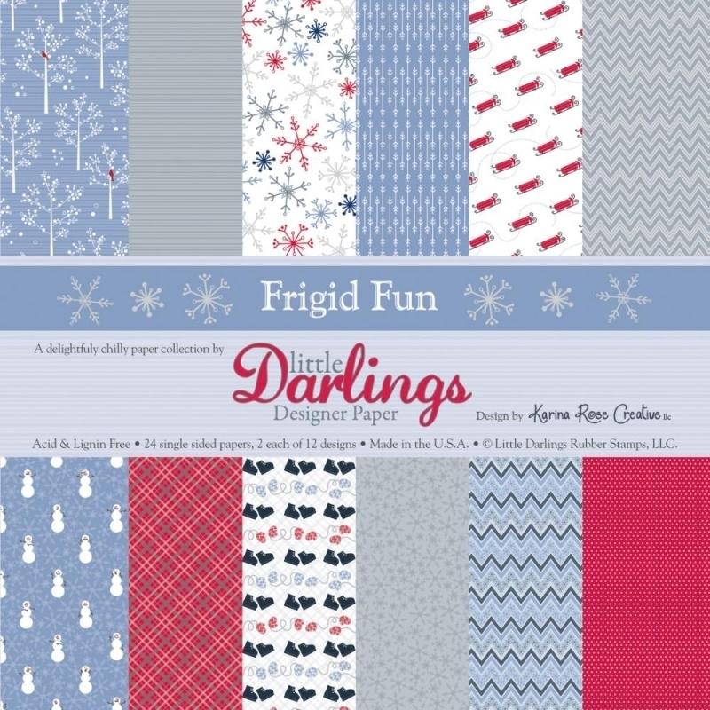 Little Darlings Paper Pad - Frigid Fun - 15,2 x 15,2 cm