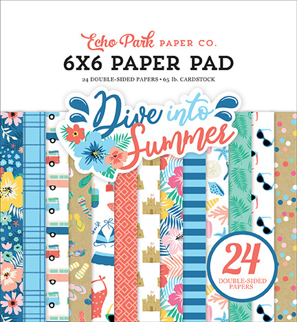 Echo Park - Dive Into Summer - 6x6 Inch Paper Pad (15,2 x 15,2 cm)