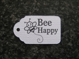 Label Bee happy