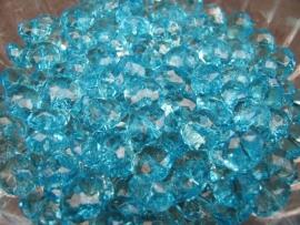 Facet rondel turquoise 10 bij 6 mm