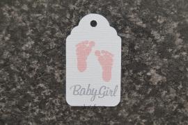 Label Voetjes Babygirl