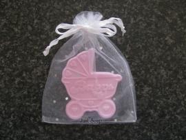 Geboorte bedankje Kinderwagen
