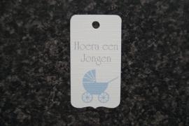 Label Hoera een Jongen Kinderwagen
