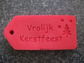 Label Vrolijk Kerstfeest