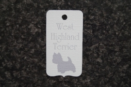 Label West Highland Terrier