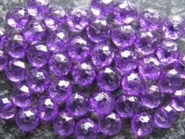 Facet rondel paars (2) 10 bij 6 mm